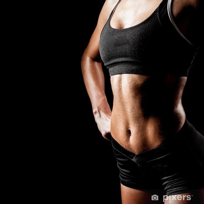 Naklejka Pixerstick Sport kobieta na czarnym - Inne uczucia