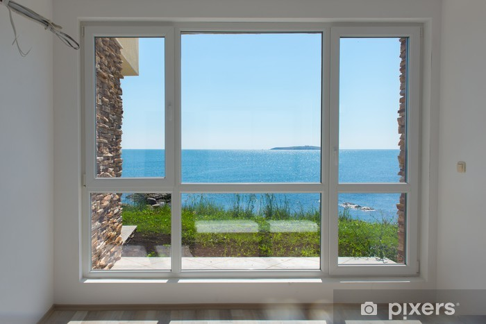 Empty room with sea view Vinyl Wall Mural - Private Buildings
