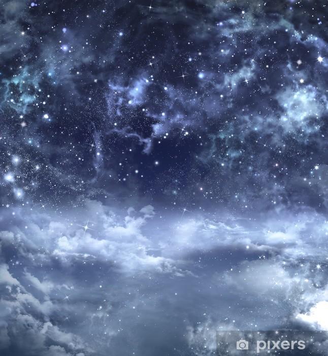 Naklejka Pixerstick Piękne tło na nocnym niebie - Tematy
