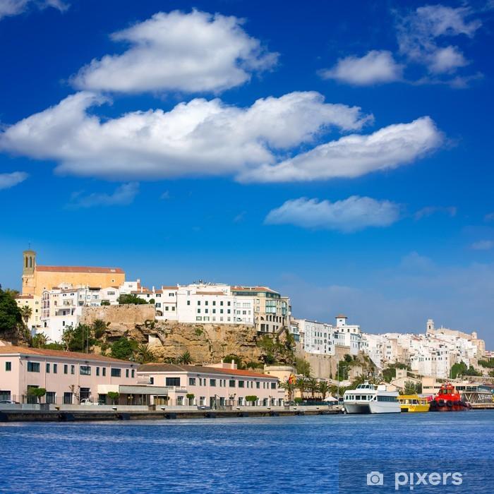 Mao Port of Mahon in Menorca at Balearic islands Pixerstick Sticker - Europe