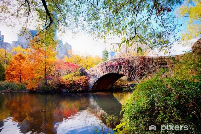 Autumn in Central Park, New York Pixerstick Sticker - Themes