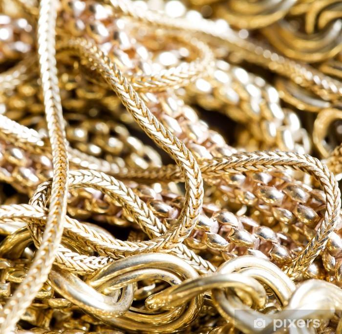 Poster Les bijoux en or - Mode