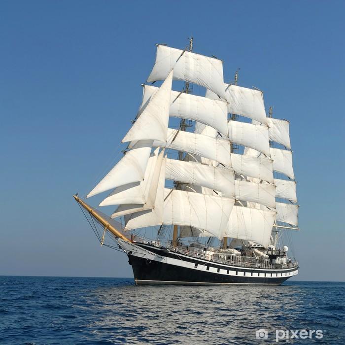 Sailing ship. series of ships and yachts Vinyl Wall Mural - Boats