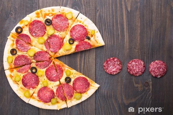 Papier peint vinyle Pacman Pizza - Thèmes