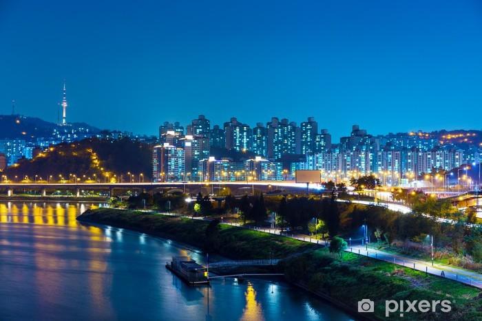 Fototapeta winylowa Miejskiego miasta w Seulu - Pejzaż miejski