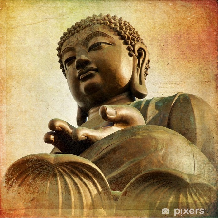 The Great Buddha of Po Lin Monastery - Hong Kong Pixerstick Sticker - Styles