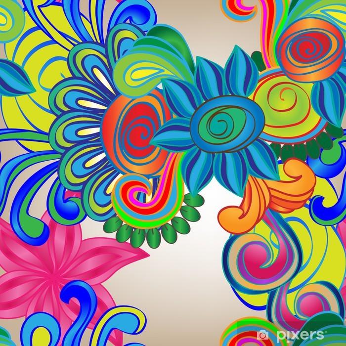 Poster Vecteur seamless des fleurs abstraites - Arrière plans