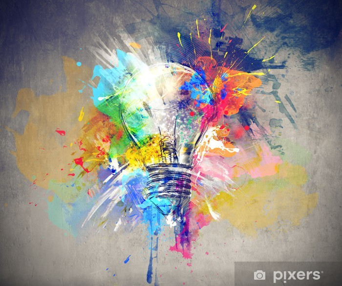 Colourful Light Pixerstick Sticker -