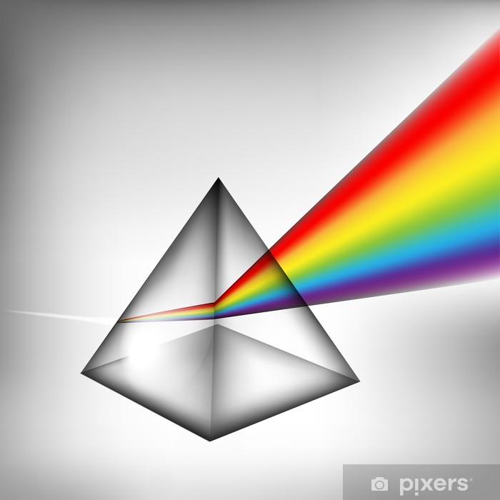 Plakat Eps10 pryzmat światłem - Nauki stosowane i ścisłe