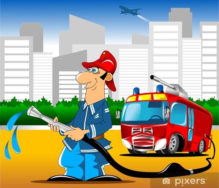 Pixerstick Sticker Brandweerwagen - Succes en Prestatie