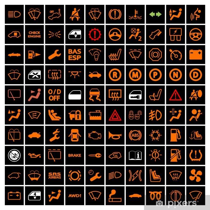 Pixerstick Aufkleber Auto-Armaturenbrett-Icons. - Zeichen und Symbole