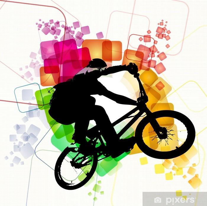 Papier peint vinyle Illustration de cycliste de BMX - Sports individuels