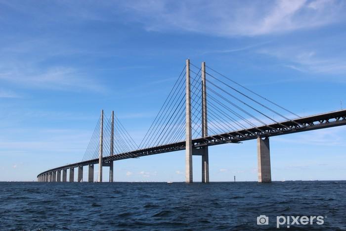 Öresund Brücke - Verbindung zwischen Dänemark und Schweden Pixerstick Sticker - Europe