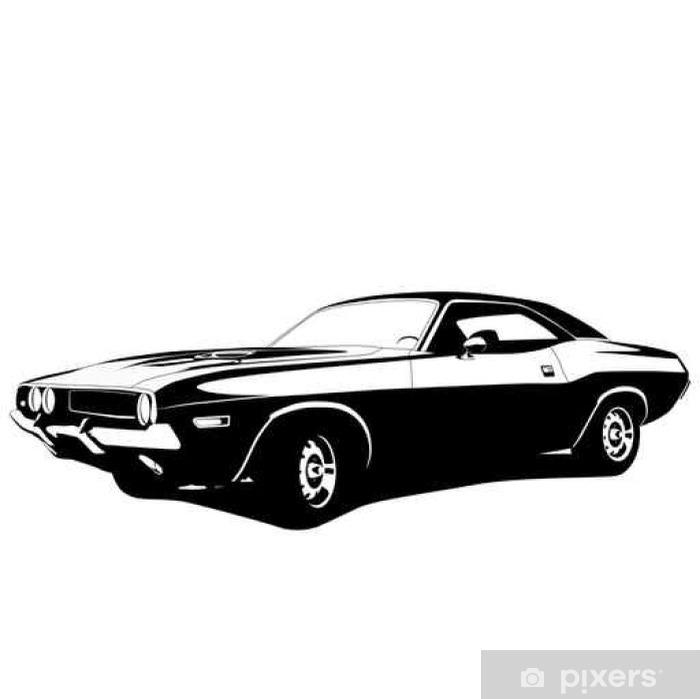 Fototapeta winylowa Profil muscle car - Naklejki na ścianę