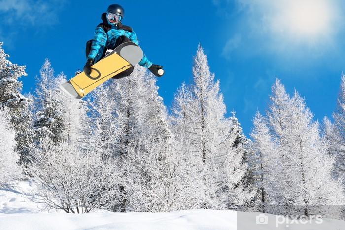 Papier peint vinyle Planche à neige drôle - Sports d'hiver