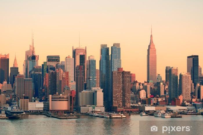Fototapeta samoprzylepna Zachód słońca w Nowym Jorku - Tematy