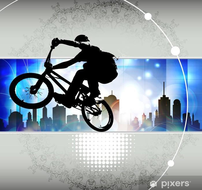 Papier peint vinyle Illustration de cycliste de BMX - Cyclisme