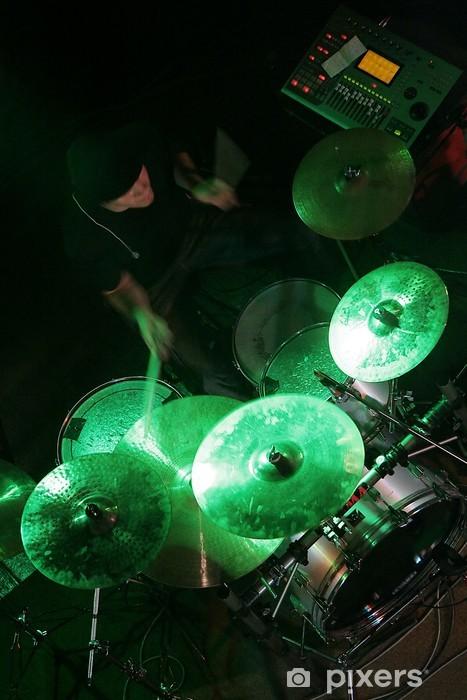 Pixerstick Sticker Drummer in de schaduw - Amusement