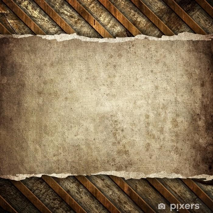 Sticker Pixerstick Vieux papier sur le fond en bois - Textures