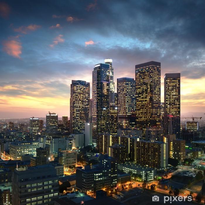 Papier peint vinyle Los Angeles du centre-ville au coucher du soleil, en Californie -