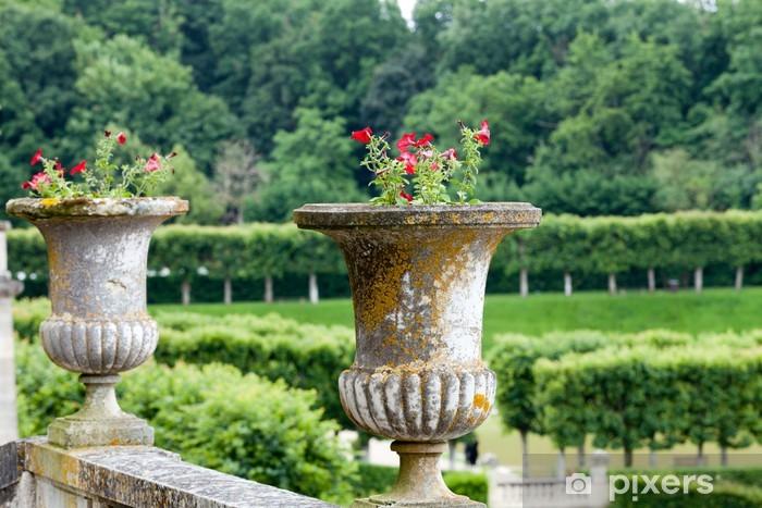 Splendid, decorative gardens at castles in France Pixerstick Sticker - Europe