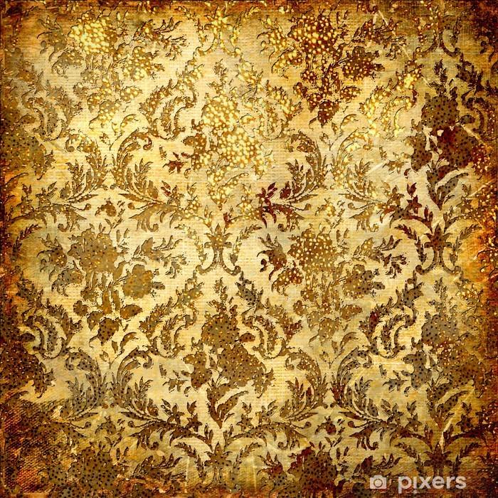 Naklejka Pixerstick Rocznika grunge ze złotymi wzorami - Tematy