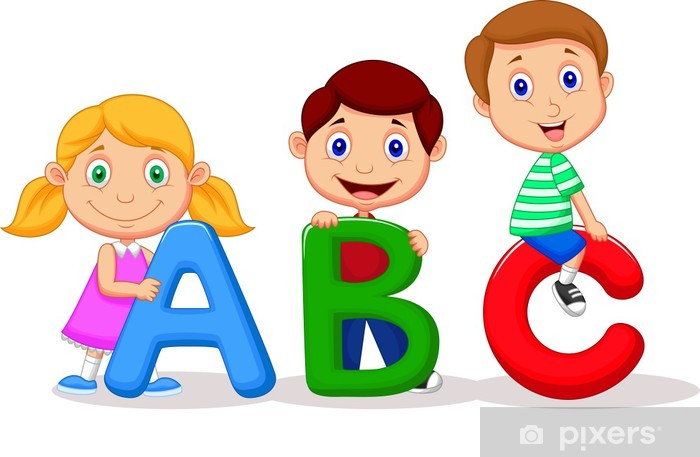 Children with ABC alphabet Wall Mural - Vinyl