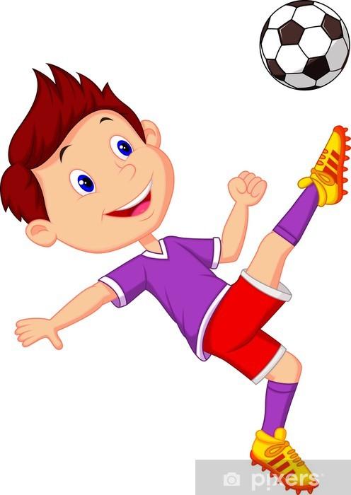 cee01635 Fototapet Gutt som spiller fotball • Pixers® - Vi lever for forandring