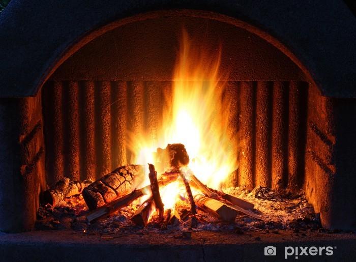 Fototapeta samoprzylepna Kominek z ogniem - Tematy