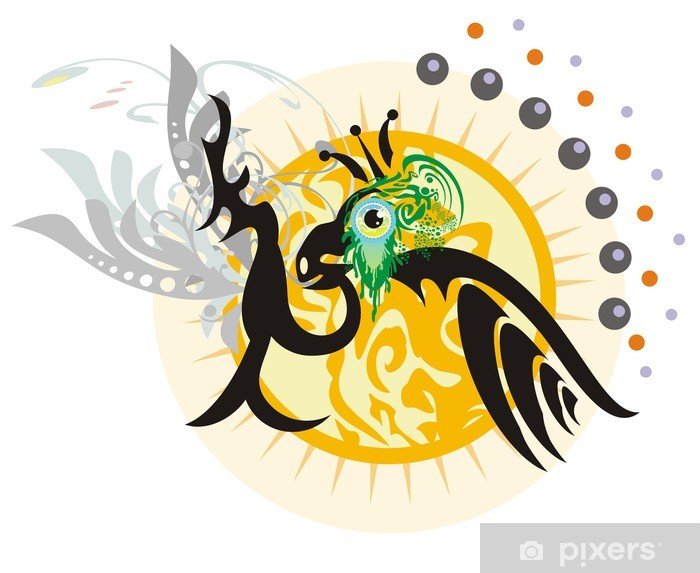 Pixerstick Aufkleber Die Vogel-König - Sonstige Gefühle