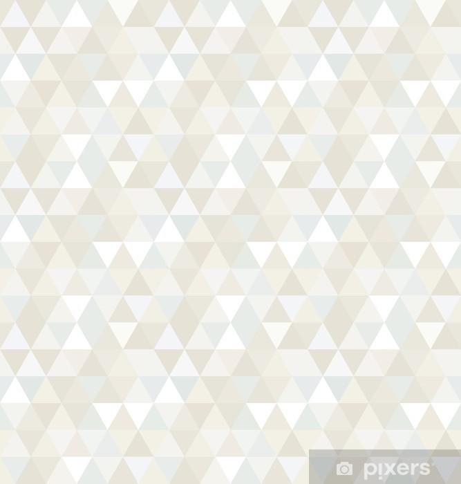 Vinyl Fotobehang Naadloze Patroon van de Driehoek, achtergrond, textuur -