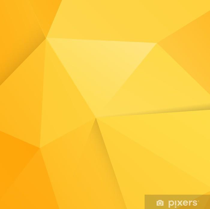 Fototapeta winylowa Abstrakcyjna nowoczesnych pomarańczowym wielokąt tle, ilustracji wektorowych - Znaki i symbole