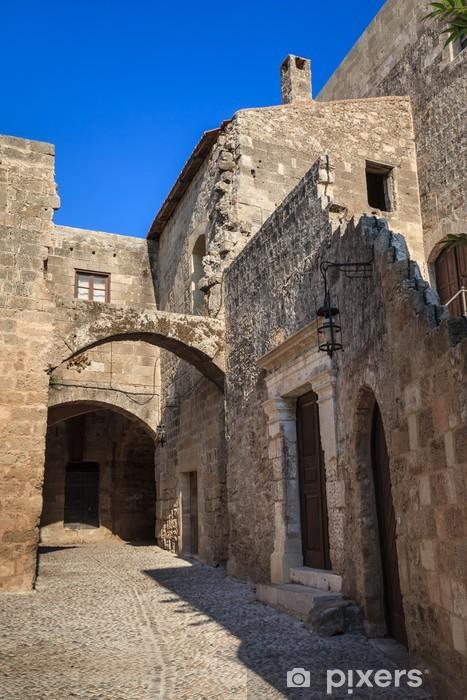 Fototapeta winylowa Ulica w średniowieczne miasto - Europa