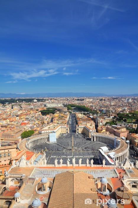 Naklejka Pixerstick Watykan i Rzym - Miasta europejskie