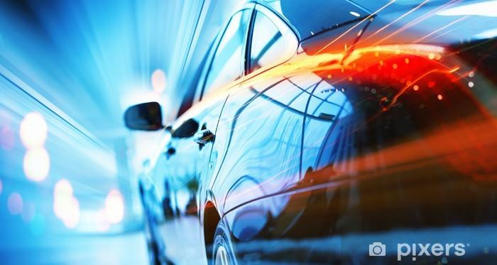 Pixerstick Aufkleber Rückansicht des Luxus-Auto - Themen