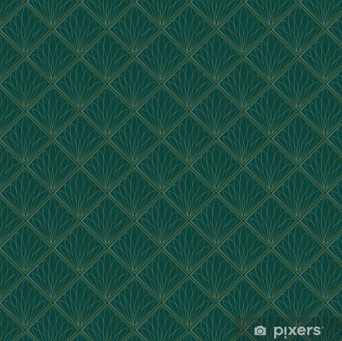 Art Deco Fans Pattern Self-Adhesive Wall Mural - Backgrounds