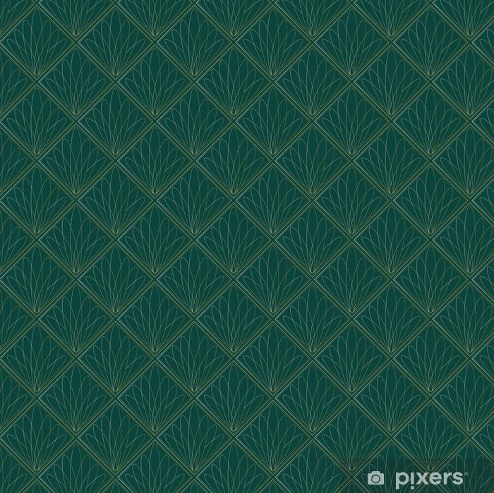 Art Deco Fans Pattern Pixerstick Sticker - Backgrounds