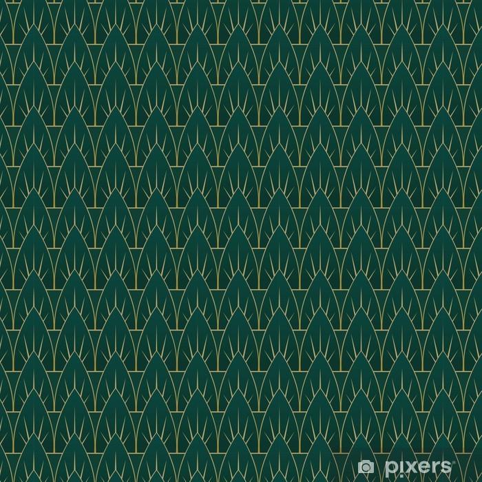 Naklejka Pixerstick Art Deco wzór liści - Tła