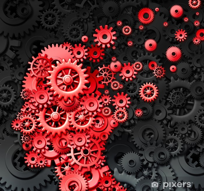 Human Brain Injury Vinyl Wall Mural - Health and Medicine