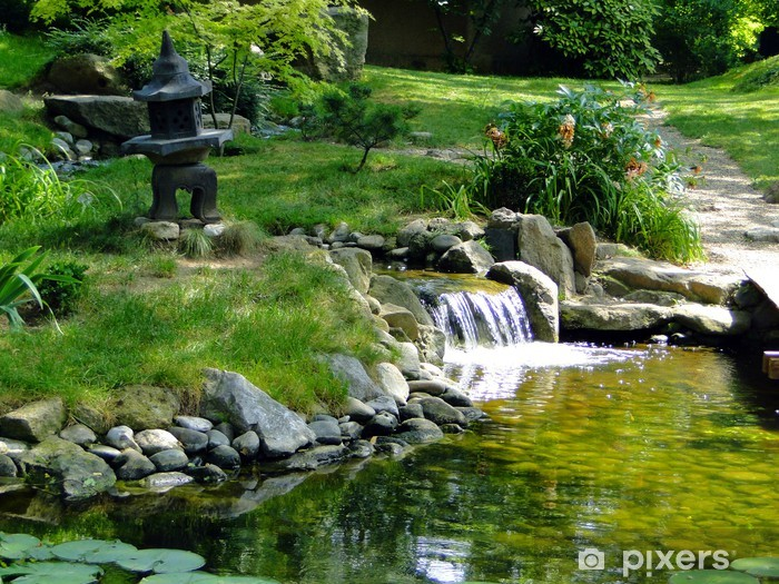 Vinil Duvar Resmi Zen bahçesi - Çiçekler