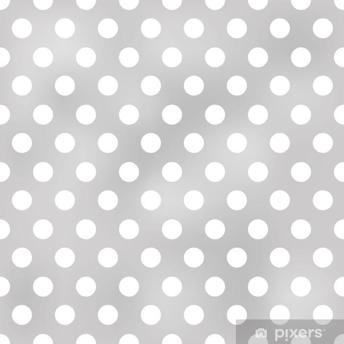 Papier peint Modèle gris transparent à pois