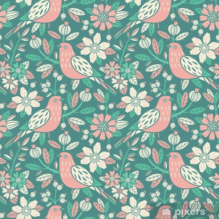 Carta da Parati in Vinile Seamless pattern floreale - Sfondi