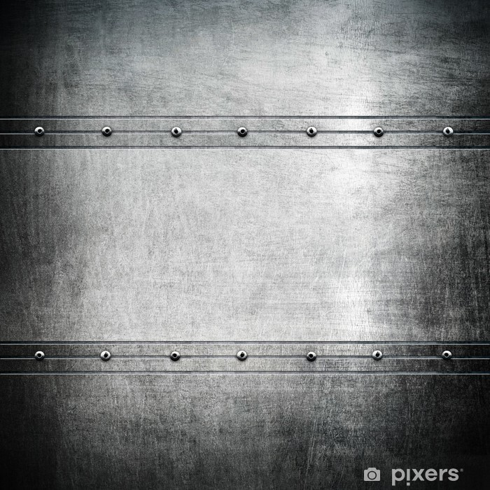 Vinilo Pixerstick Placa de metal -
