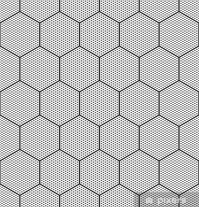Papier peint vinyle Seamless texture hexagones. - Thèmes