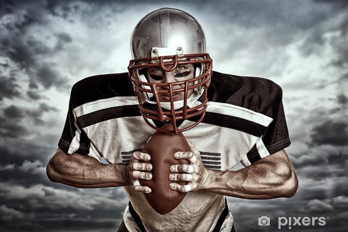 Fotomural Estándar El fútbol americano - Wolkenhintergrund - Fútbol Americano