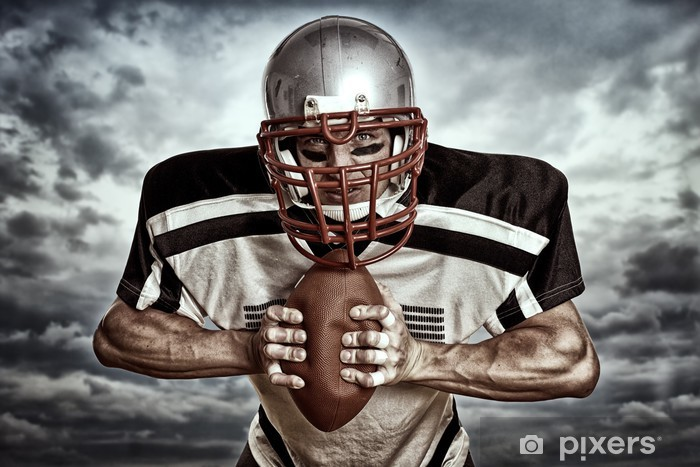 Pixerstick Sticker American Football - Wolkenhintergrund - American Football