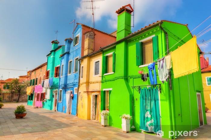 Papier peint vinyle Maisons colorées sur l'île de Burano, près de Venise, Italie - Destin