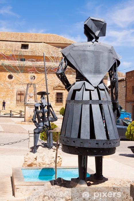 I Donchisciotte Del Tavolino.Carta Da Parati In Vinile Monumento Di Don Chisciotte E Dulcinea A El Toboso