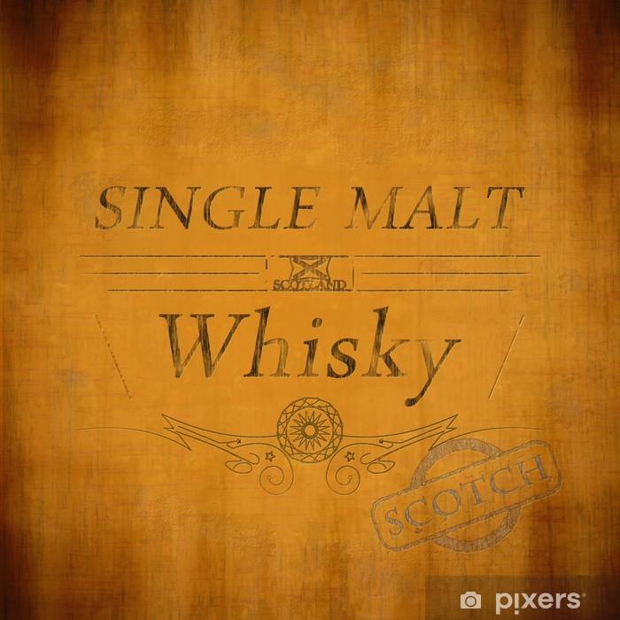 Vinyl-Fototapete Gereift Single Malt Whiskey-Etikett - Alkohol