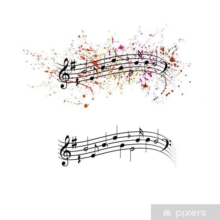 Poster Des notes de musique - Musique